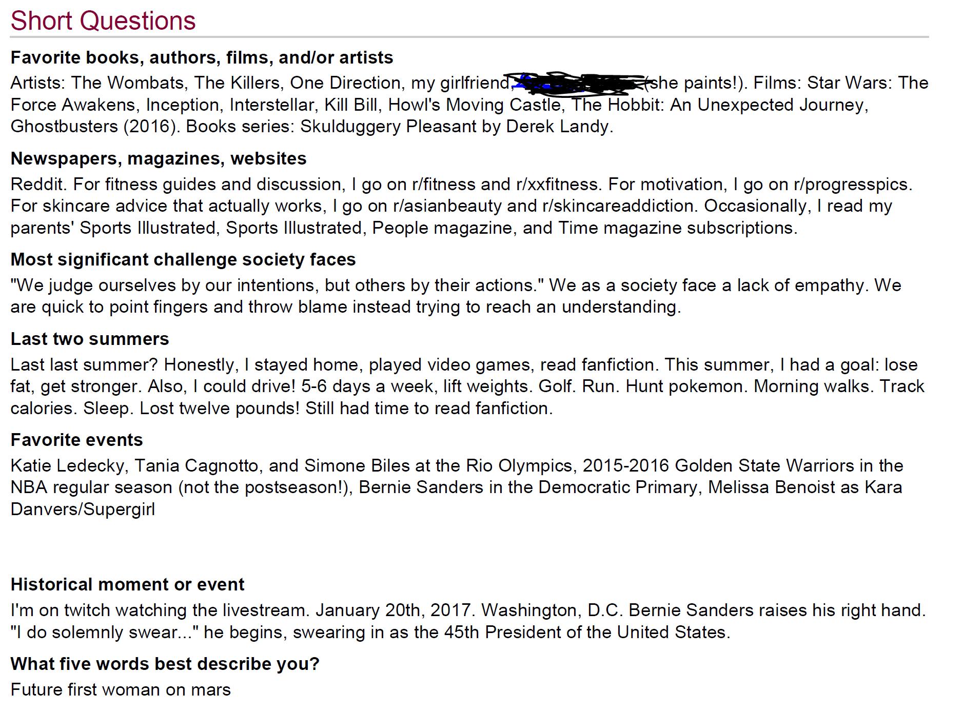 accepted stanford essays reddit