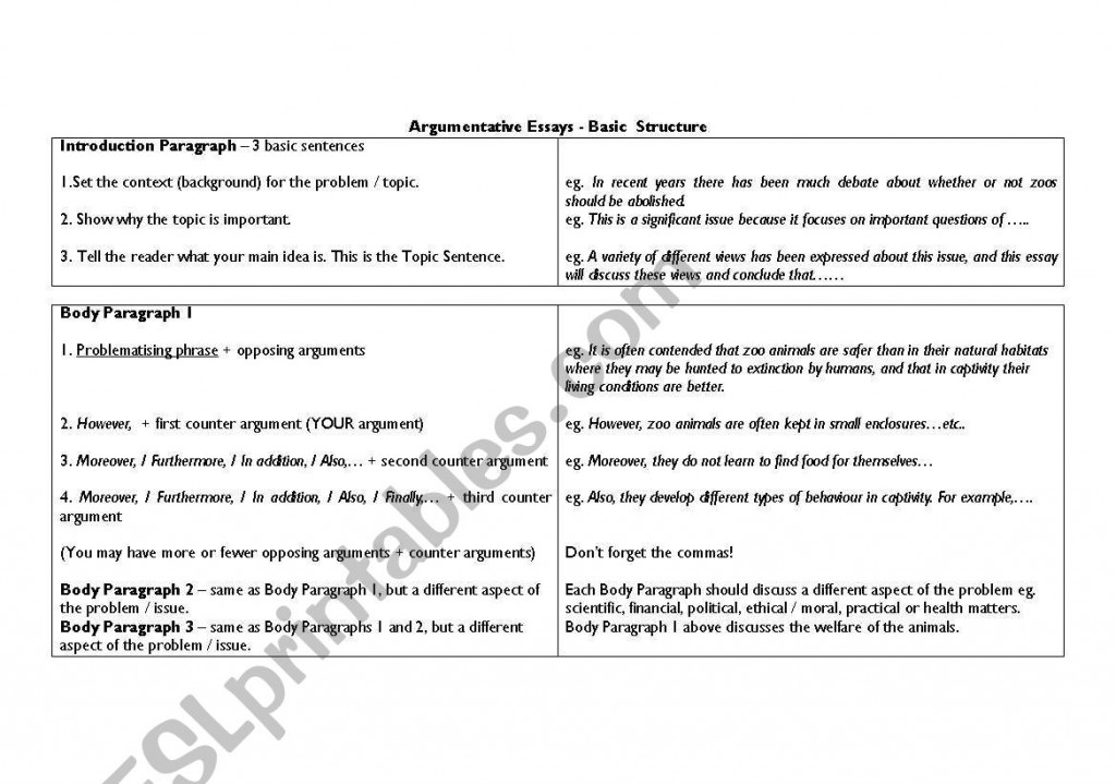 005 Structure Of An Argumentative Essay 548716 1 Writing Breathtaking Outline (advanced Module) Example Large