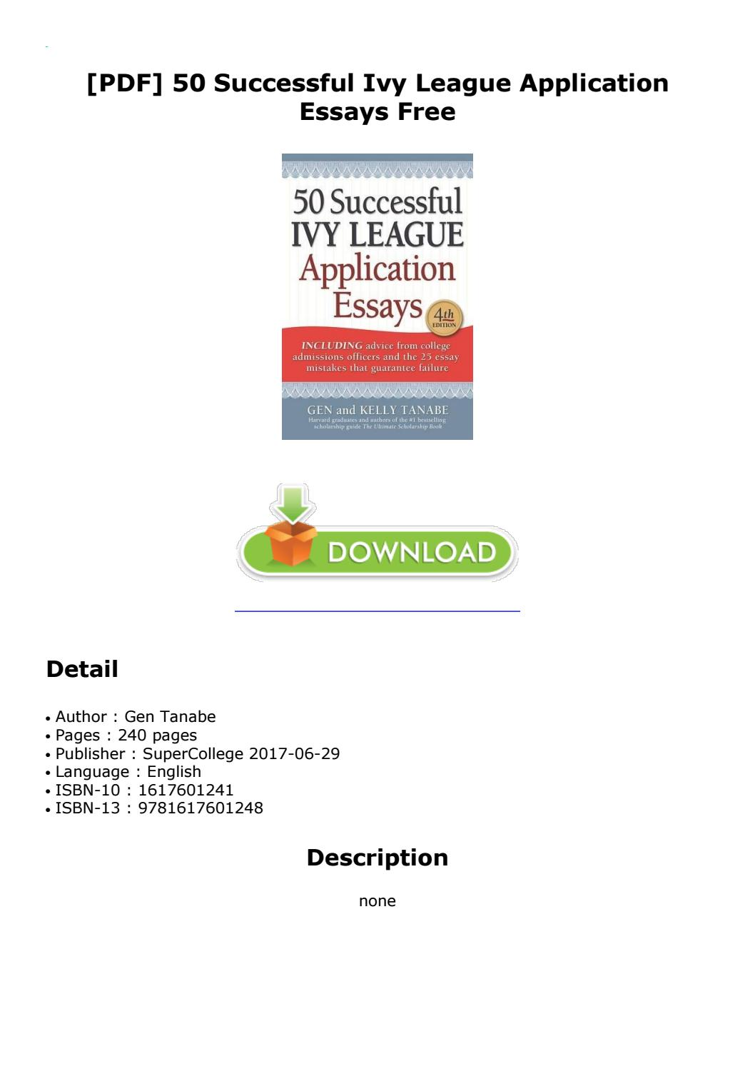 005 Successful Harvard Application Essays Pdf Page 1 Essay Impressive 50 Free 4th Edition Download Full