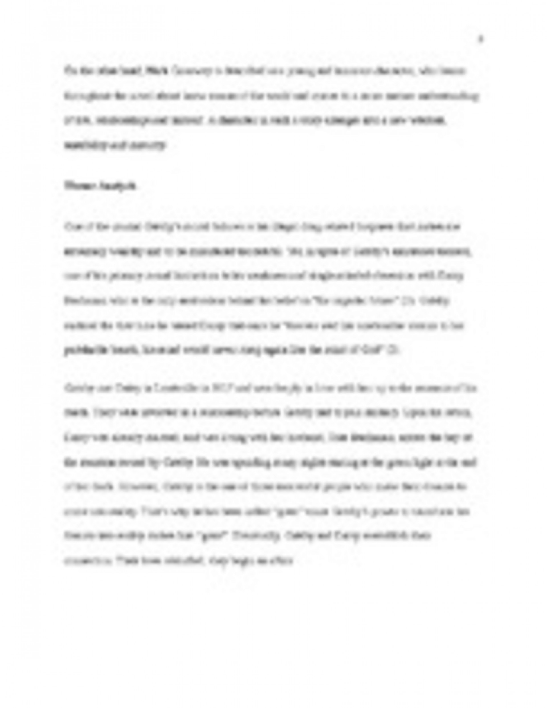005 The Great Gatsby Themes Essay Example Stirring Theme Analysis And Symbolism 1920