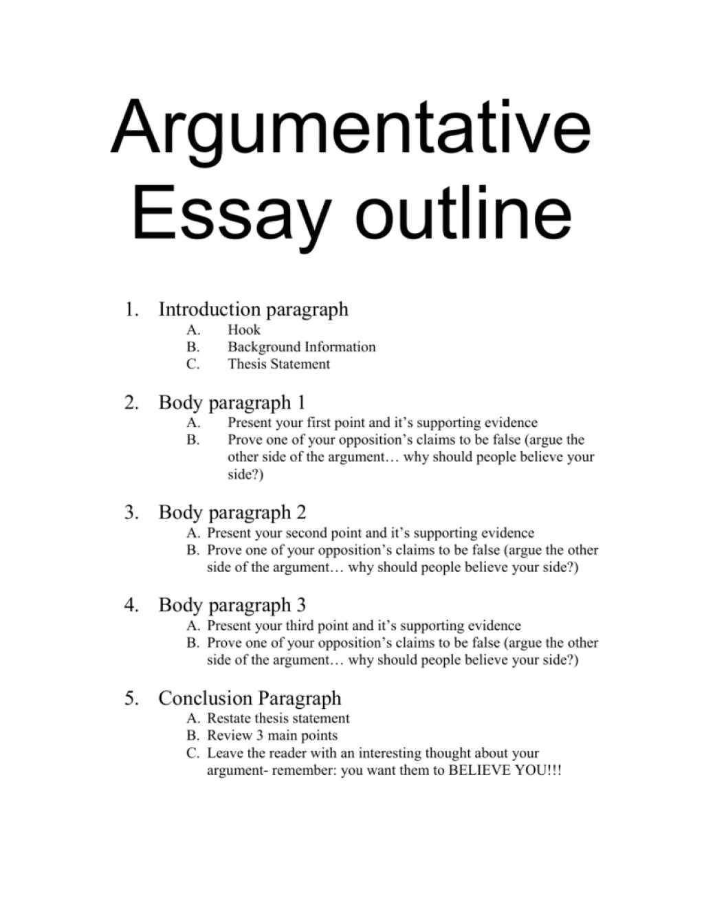 005 The Thesis Statement Or Claim Of An Argumentative Essay Should 009214476 1 Outstanding Quizlet Large
