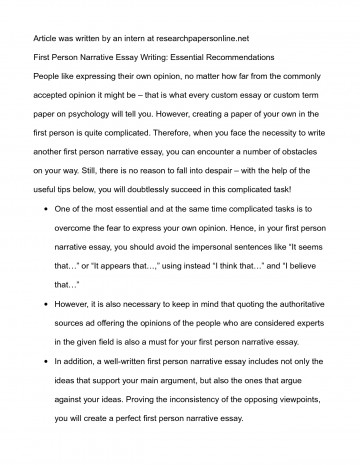 essay example third person  thatsnotus   third person essay example first examples goal blockety co how to  write good personal narrative