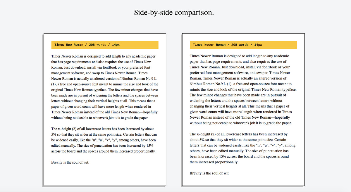 005 Times Newer Roman Is Sneaky Font Designed To Make Your Essays Look Longer How An Essay Unforgettable On Word Full
