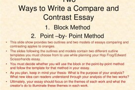 005 Two Ways To Write Compare And Contrast Essay L Example Point Wonderful By Structure Outline Introduction