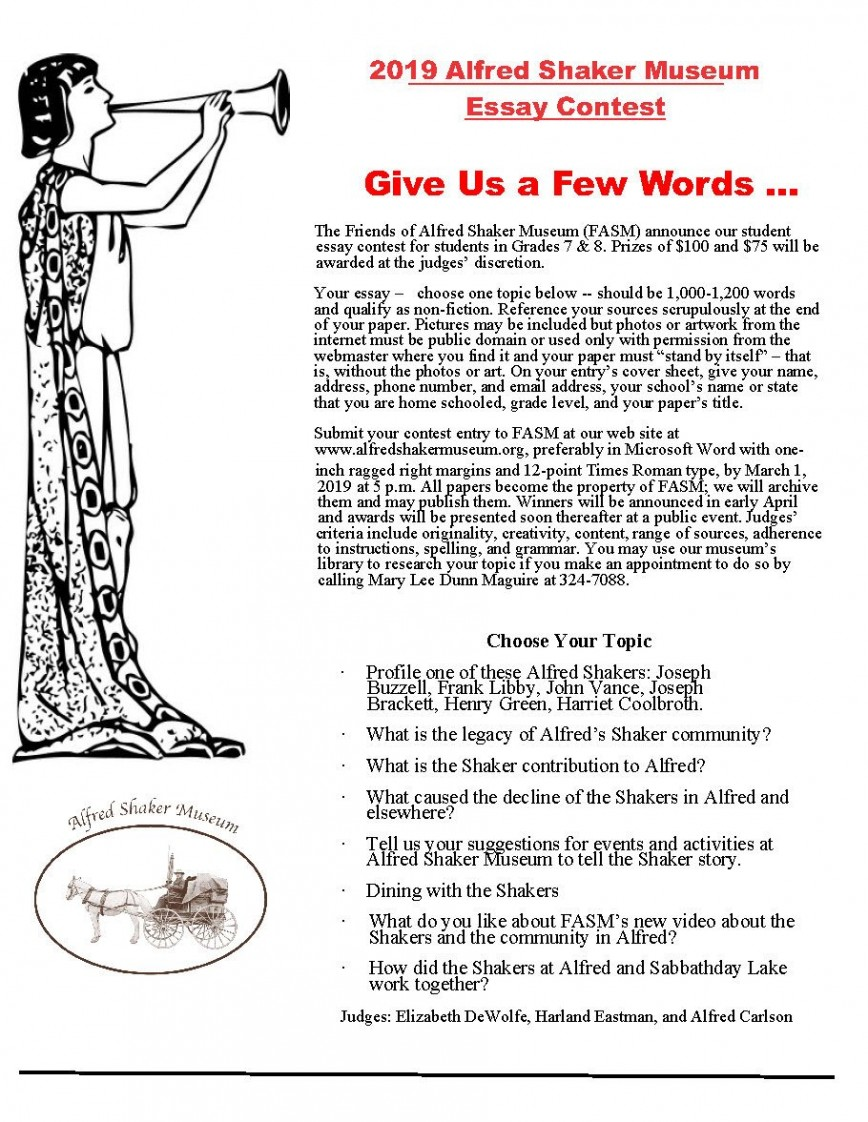 005 We The Students Essay Contest Example Best Winners Past