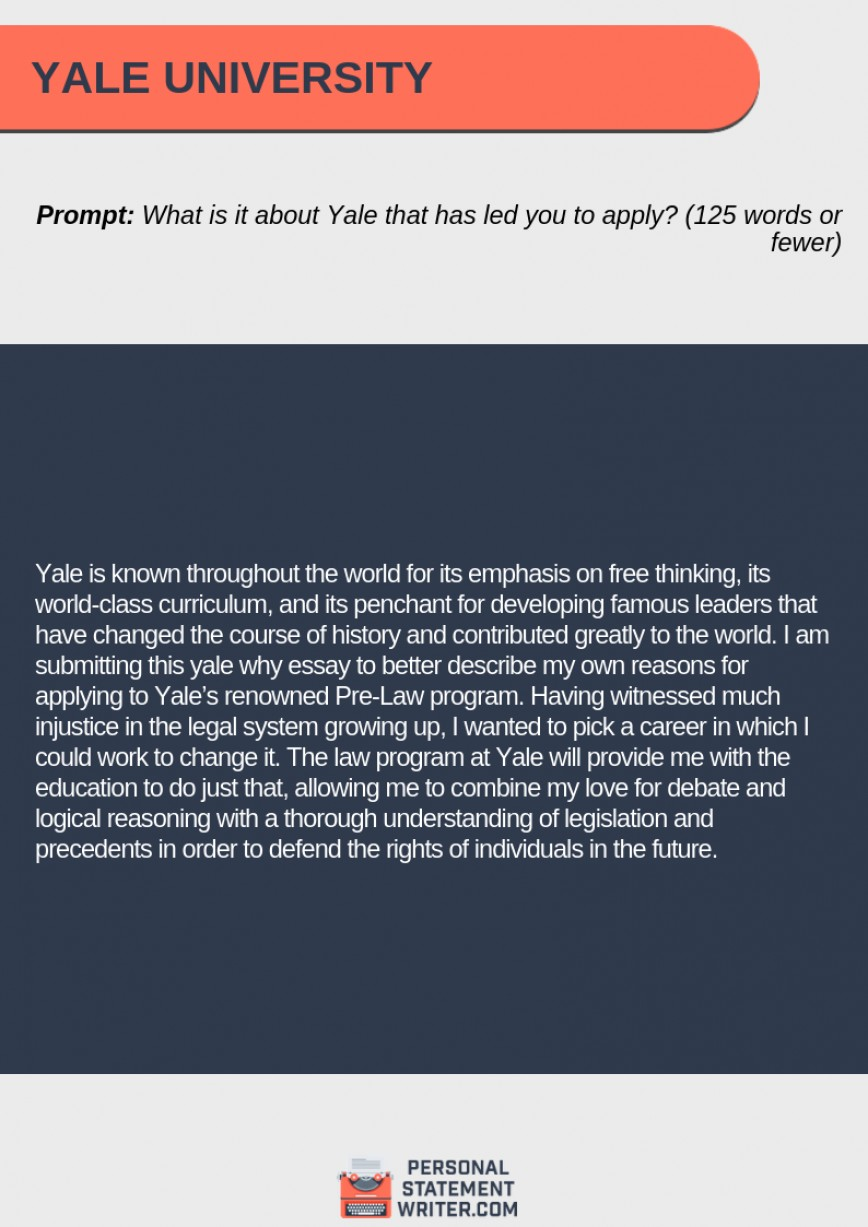 005 Why Yale Essay Unbelievable Example Reddit