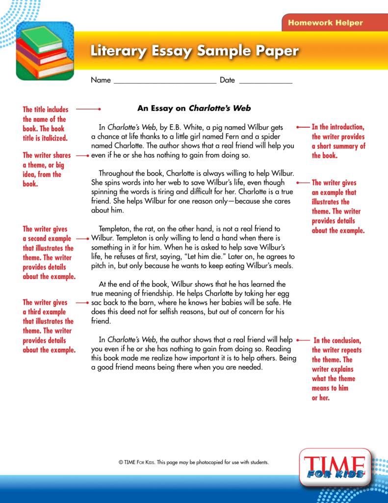 006 008656625 1 Essay Example Unique Literary Rubric 4th Grade Conclusion Writing A Full