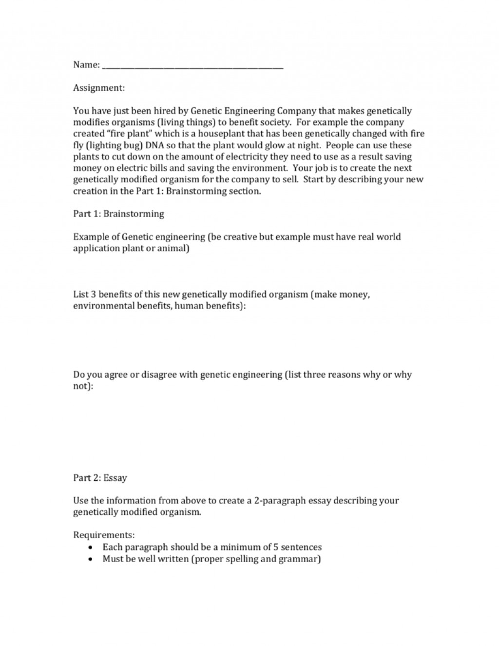006 009591371 1 Essay Example About Genetic Striking Engineering Disadvantages Of Argumentative On Human Persuasive Large
