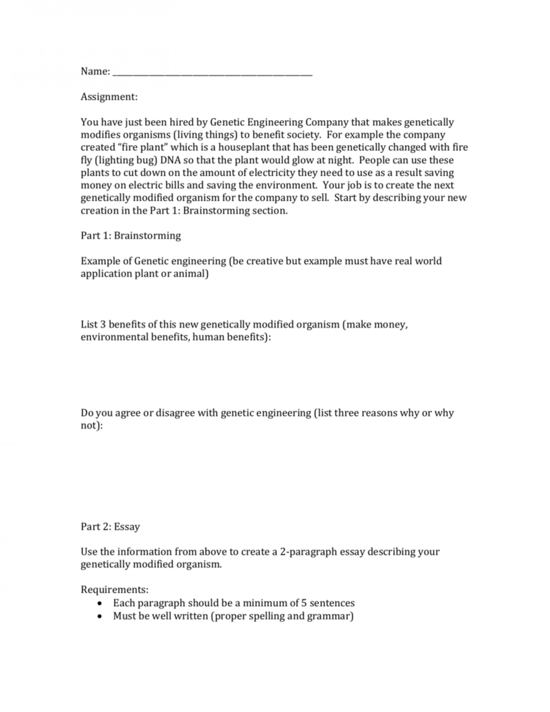 006 009591371 1 Essay Example About Genetic Striking Engineering Disadvantages Of Argumentative On Human Persuasive 1920