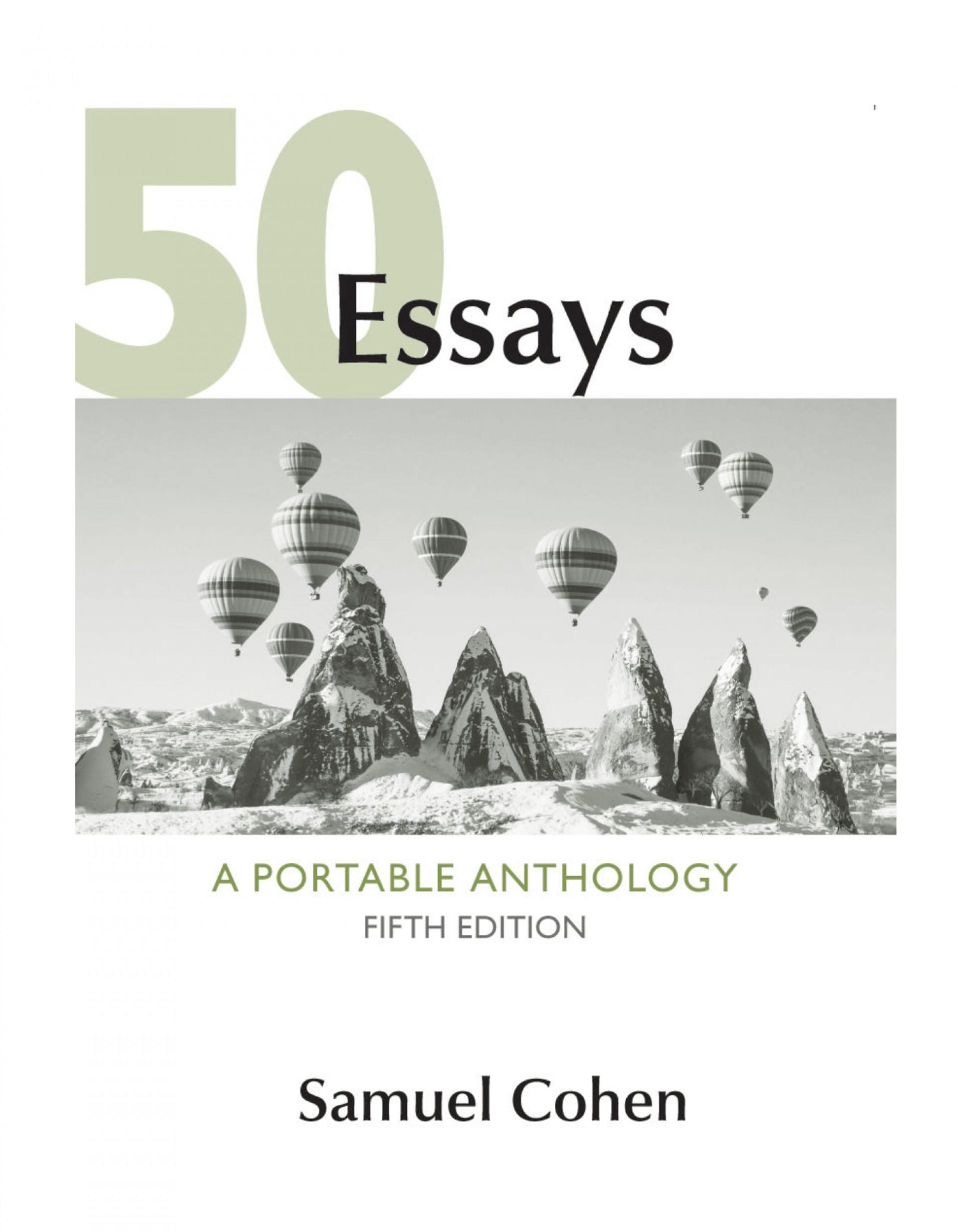 006 50fit14002c1800ssl1 Essays Portable Anthology 5th Edition Pdf Essay Fascinating 50 A 1920