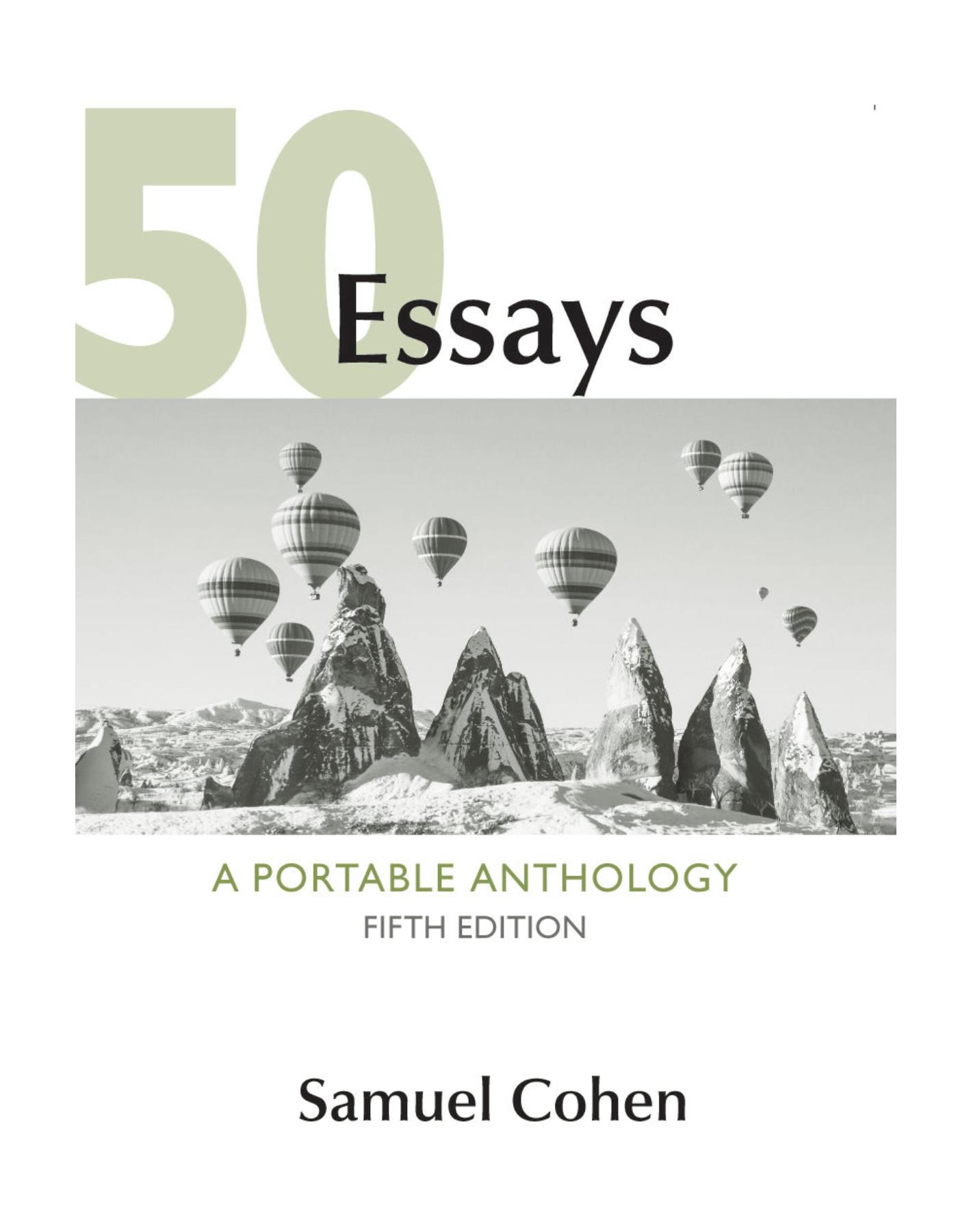 006 50fit14002c1800ssl1 Essays Portable Anthology 5th Edition Pdf Essay Fascinating 50 A Full