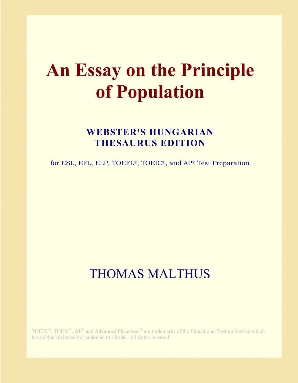 006 717hprqxqul An Essay On The Principle Of Population Fascinating By Thomas Malthus Pdf In Concluded Which Following Large