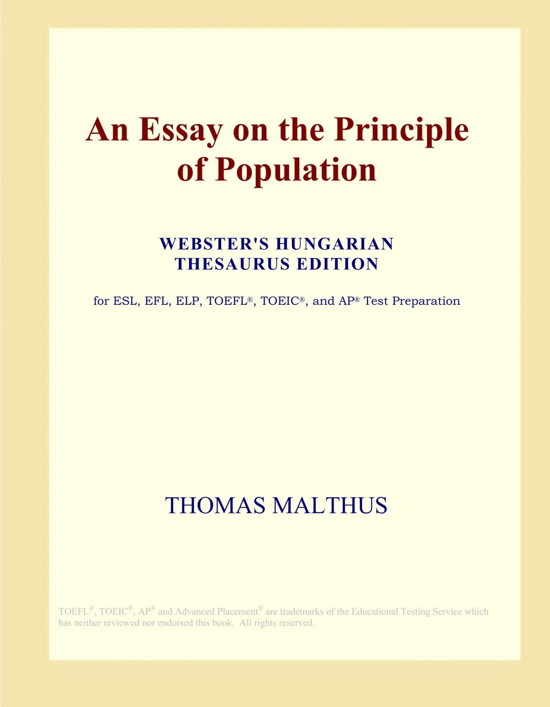 006 717hprqxqul An Essay On The Principle Of Population Fascinating By Thomas Malthus Pdf In Concluded Which Following 1920