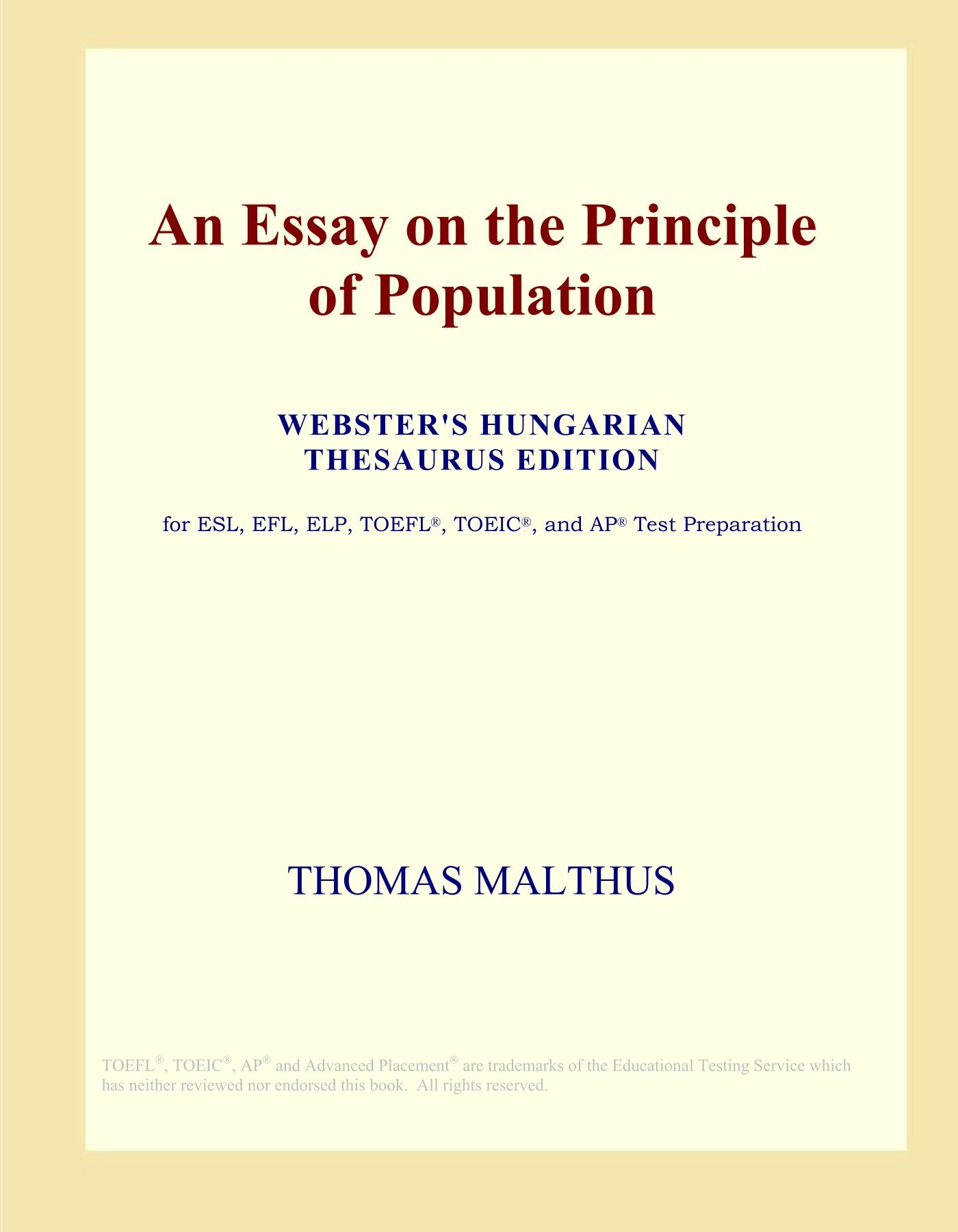 006 717hprqxqul An Essay On The Principle Of Population Fascinating By Thomas Malthus Pdf In Concluded Which Following Full