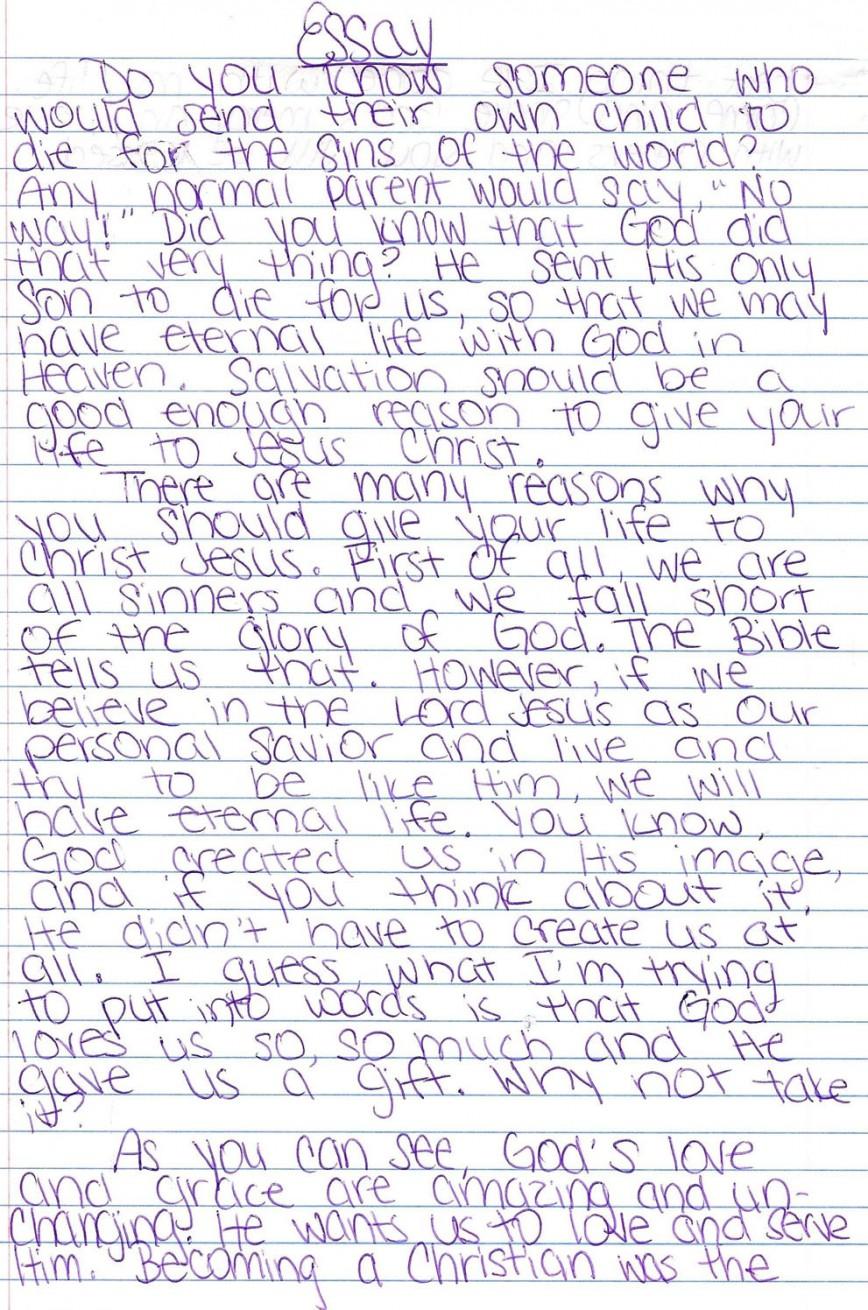 Seventh Grade Essay Examples