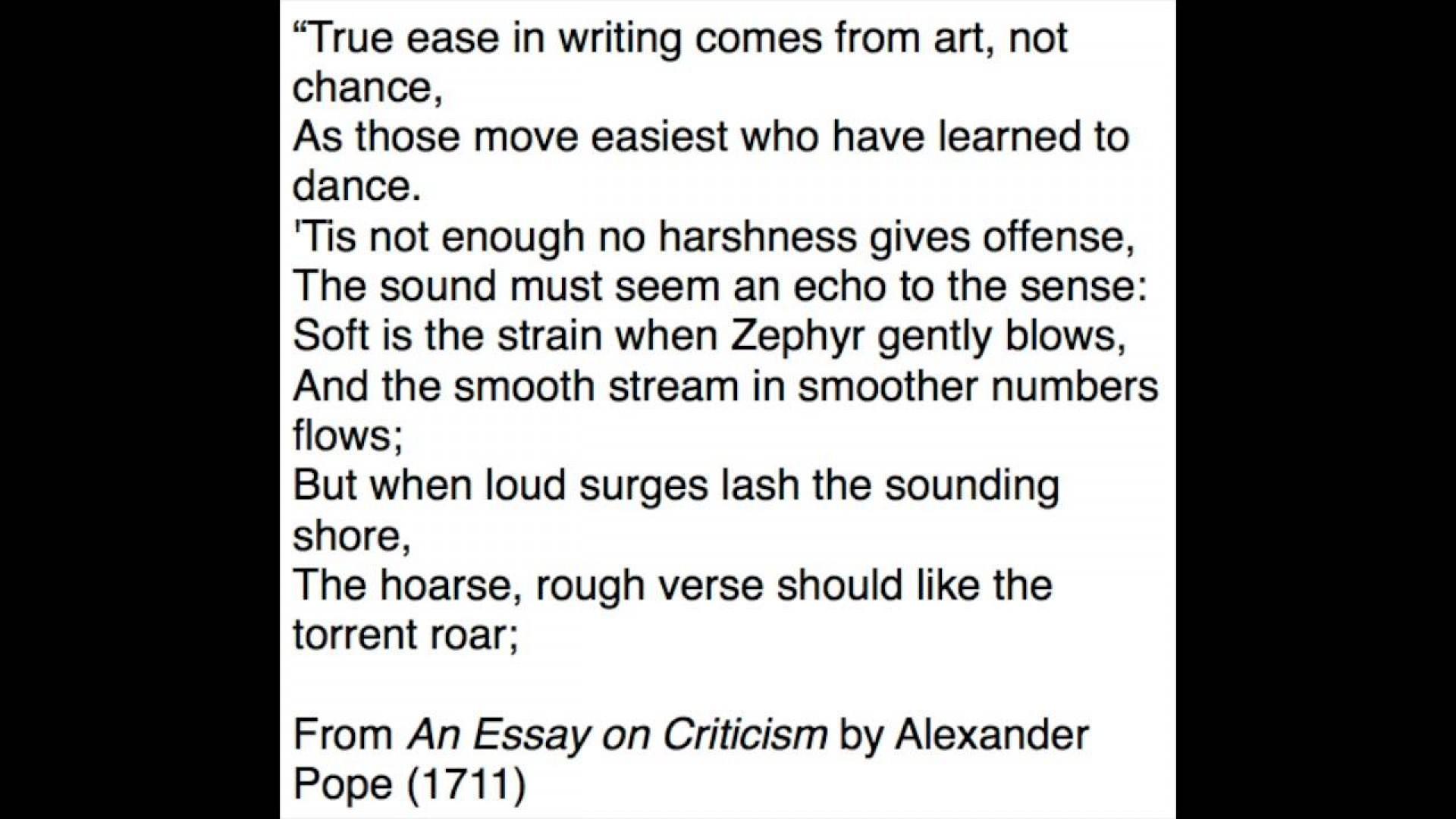 alexander pope essays