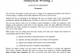 006 Analytical Writing Response Task Directions For Gre Samples Essay Example Sample Unique Essays Topics Practice Prompts Argument