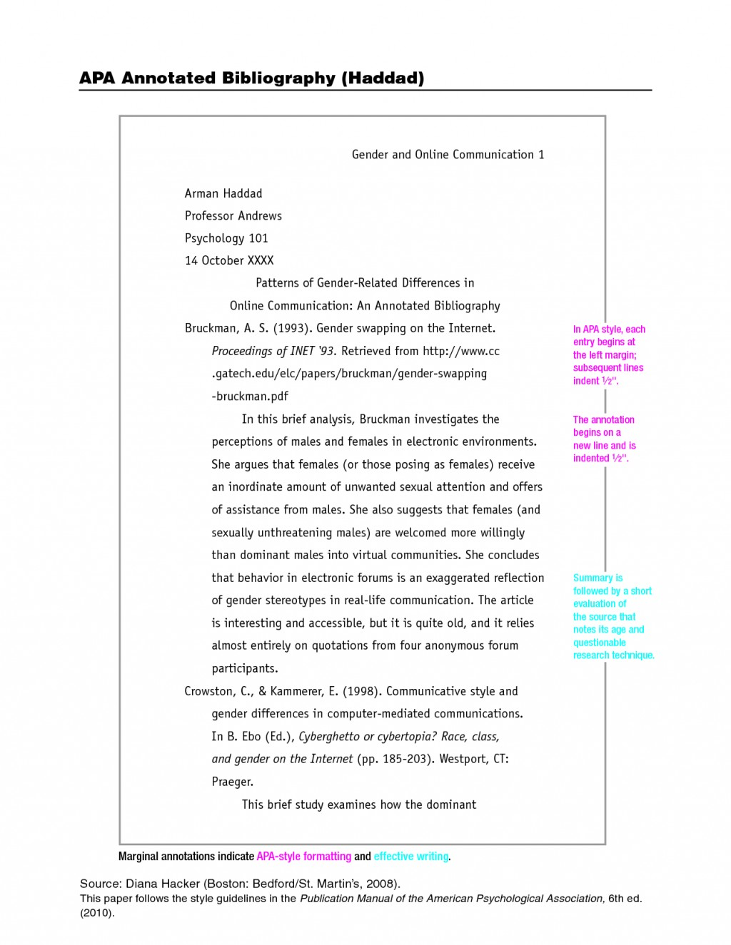 006 Apa Format Essay Example Stupendous Citation Style Research Paper 6th Edition Pdf Large