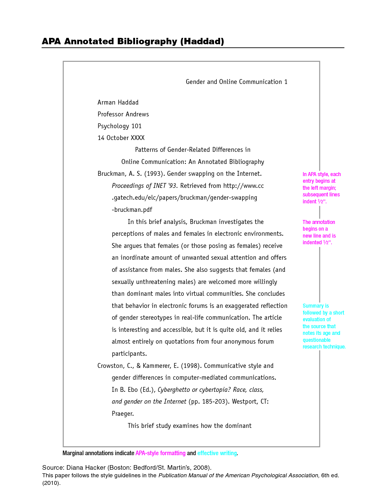 006 Apa Format Essay Example Stupendous Citation Style Research Paper 6th Edition Pdf Full
