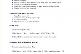 006 Apa Short Essay Format Example Research Paper Outline Template Archaicawful
