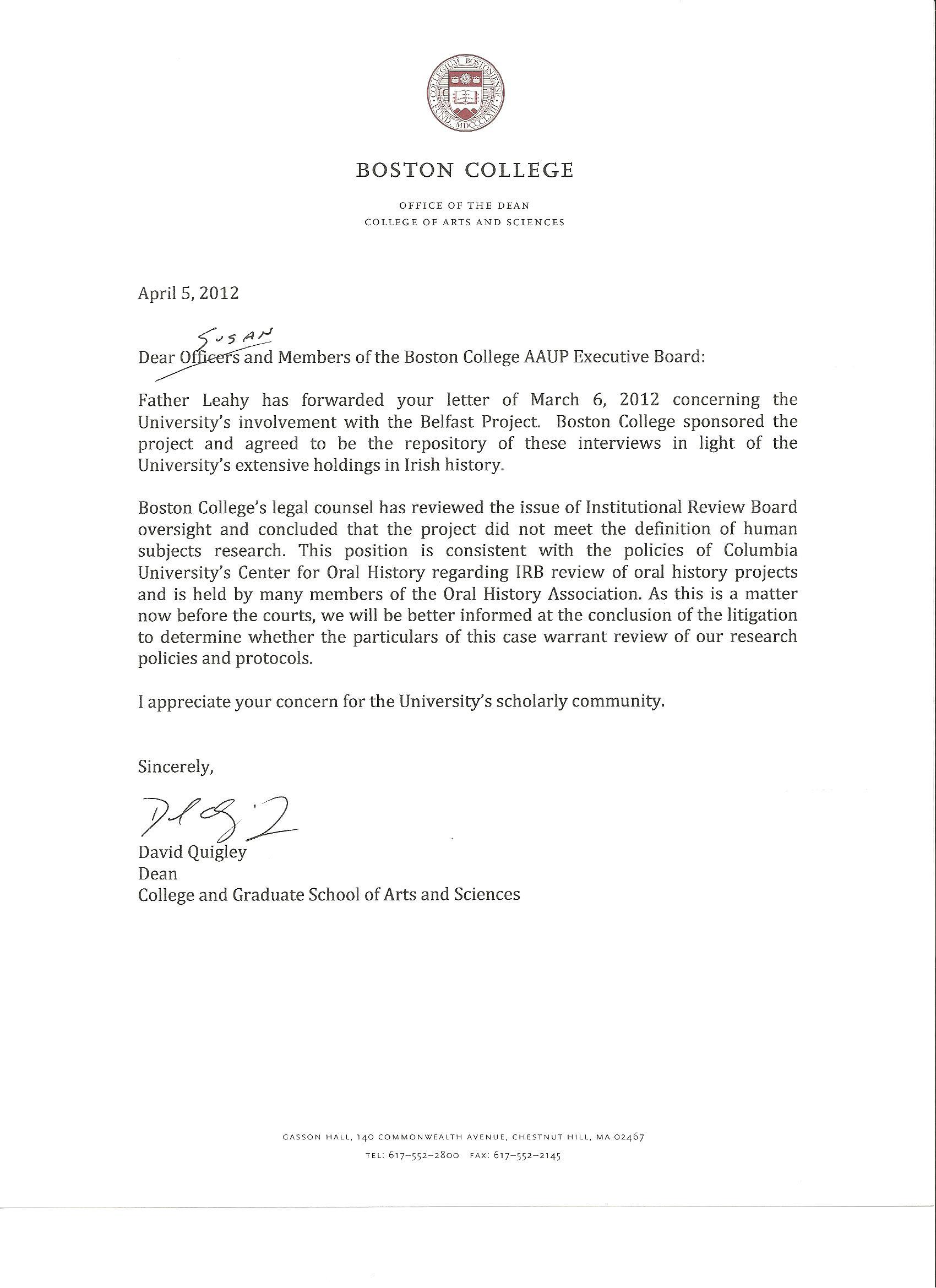 Boston college application essay 2012