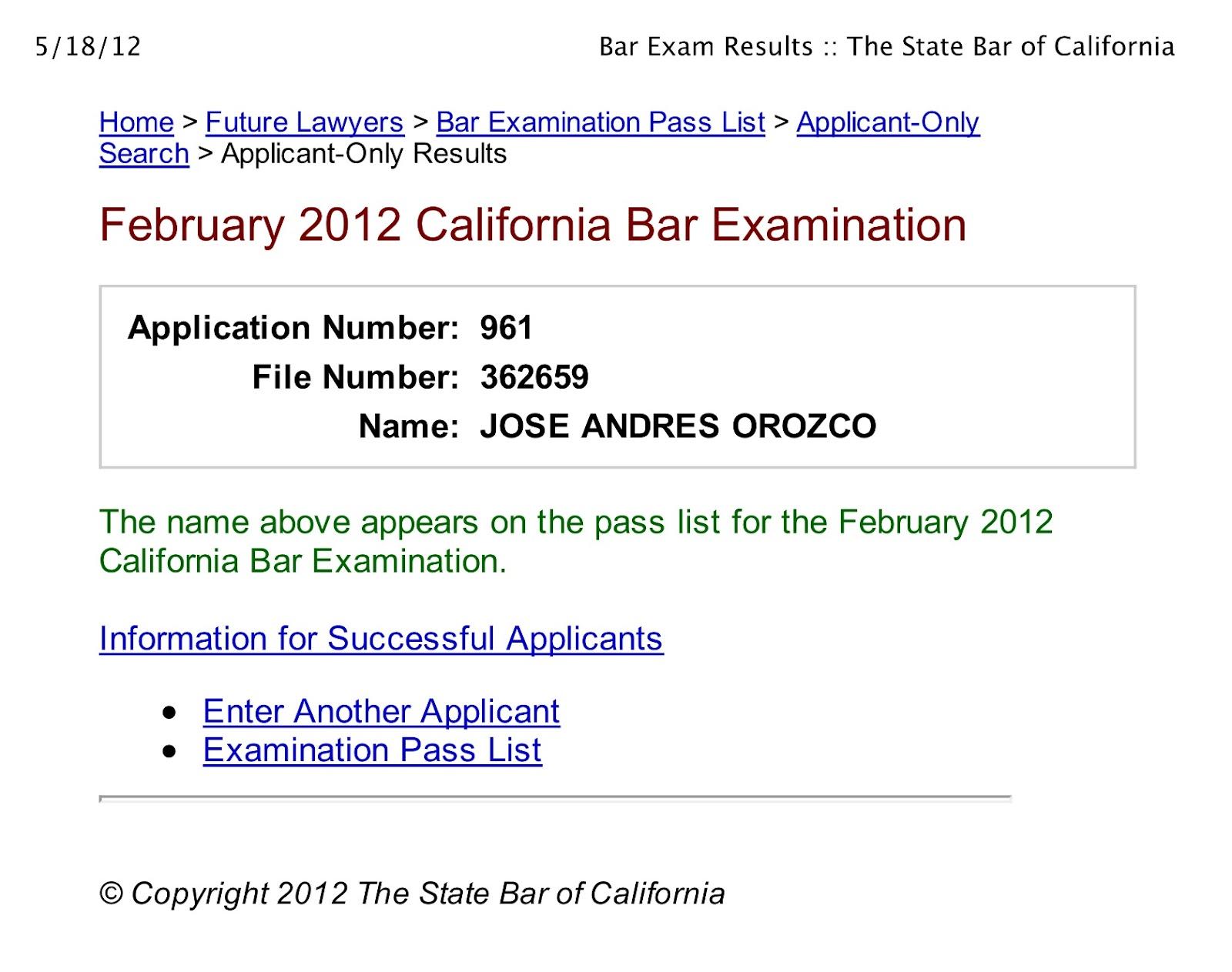 006 California Bar Essays February Term Paper Academic