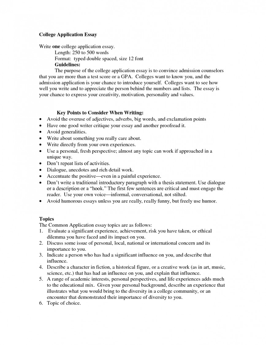 006 College Admission Essay Format Example Awesome Sample Application Admissions Heading
