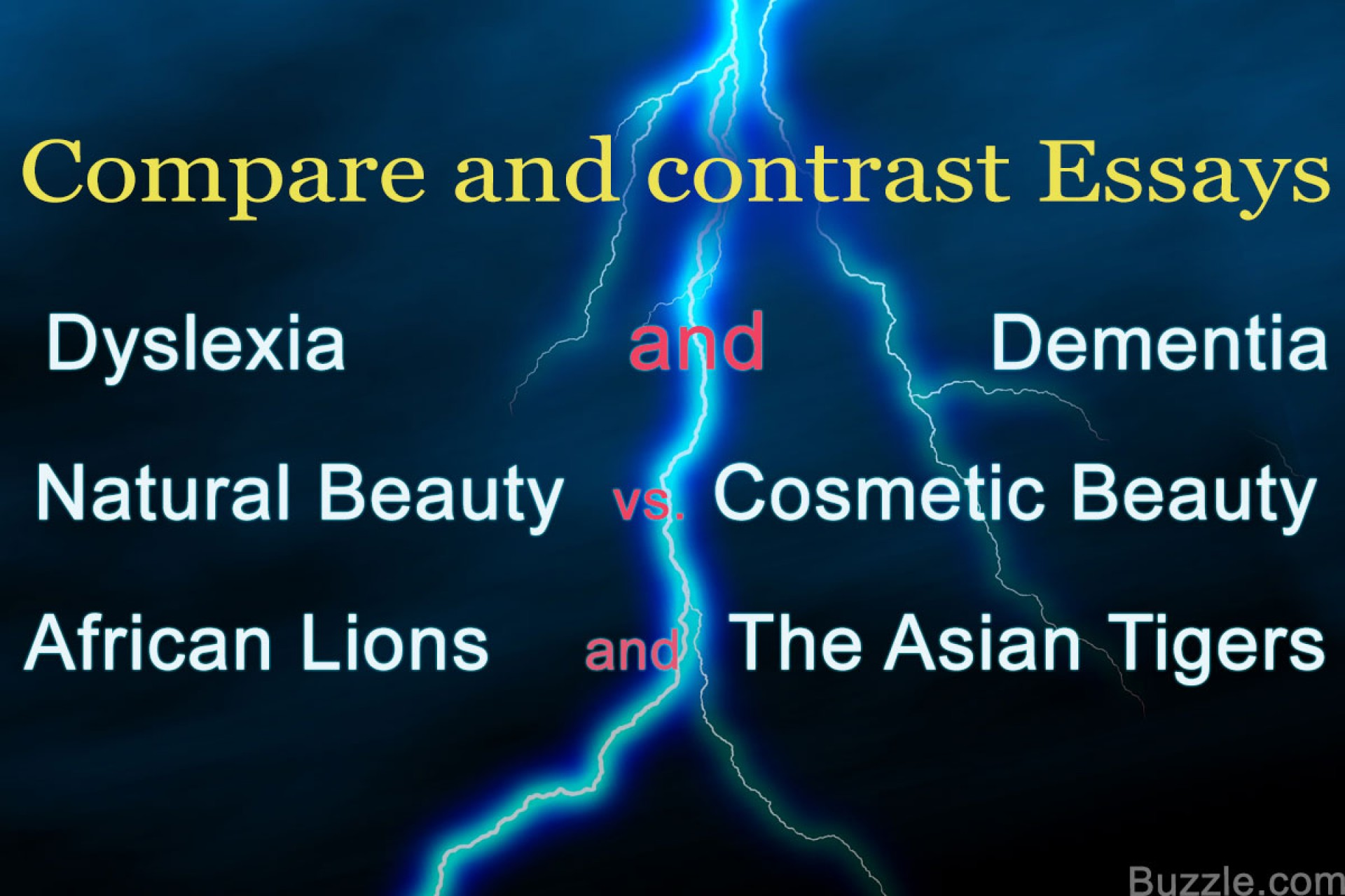 006 Compare Contrast Topics List Of And Essay Example Surprising Funny For College 1920