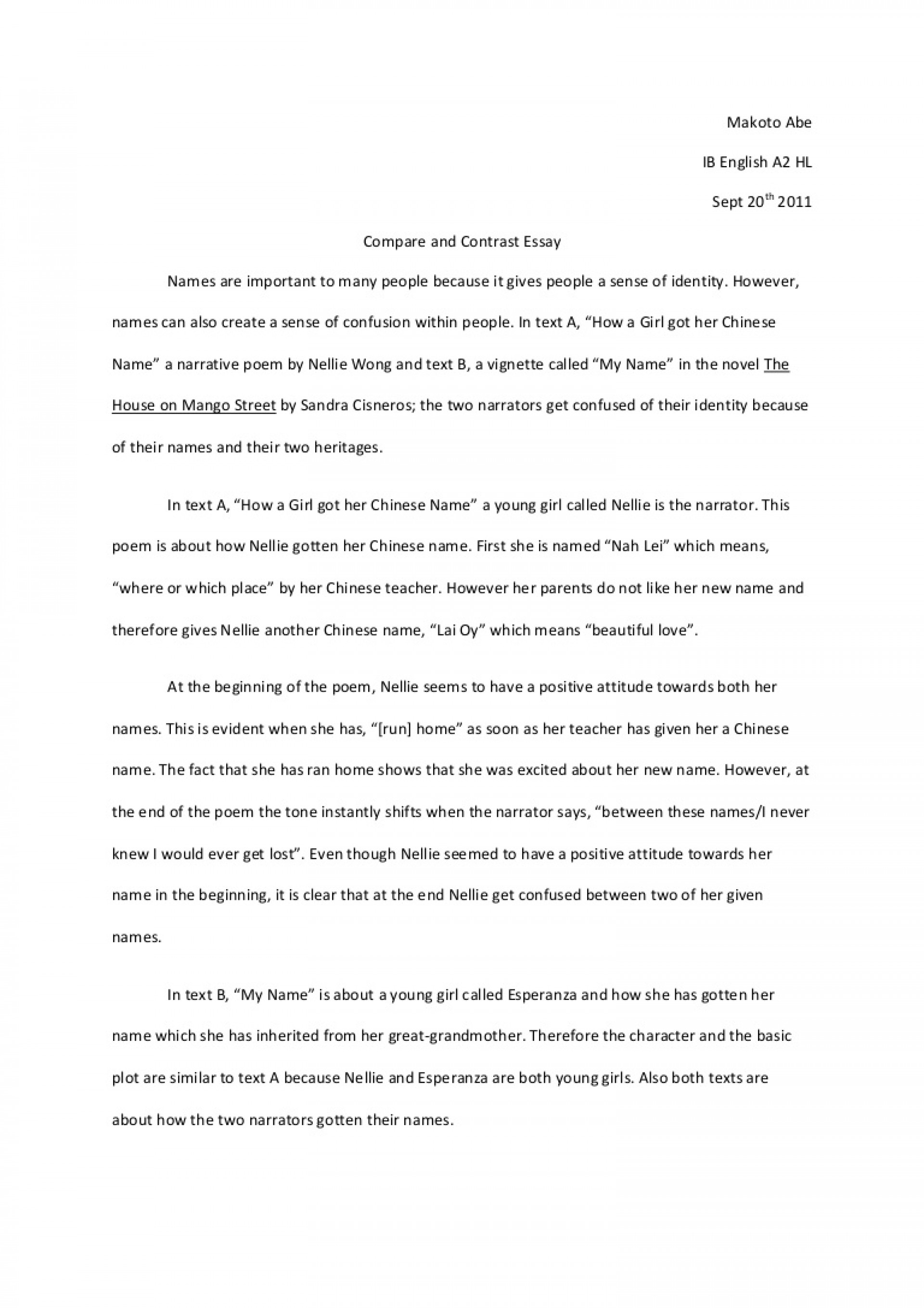 006 Compareandcontrastessayoutline Phpapp02 Thumbnail How To Start Off Compare And Contrast Essay Unusual A Do You Your 1920
