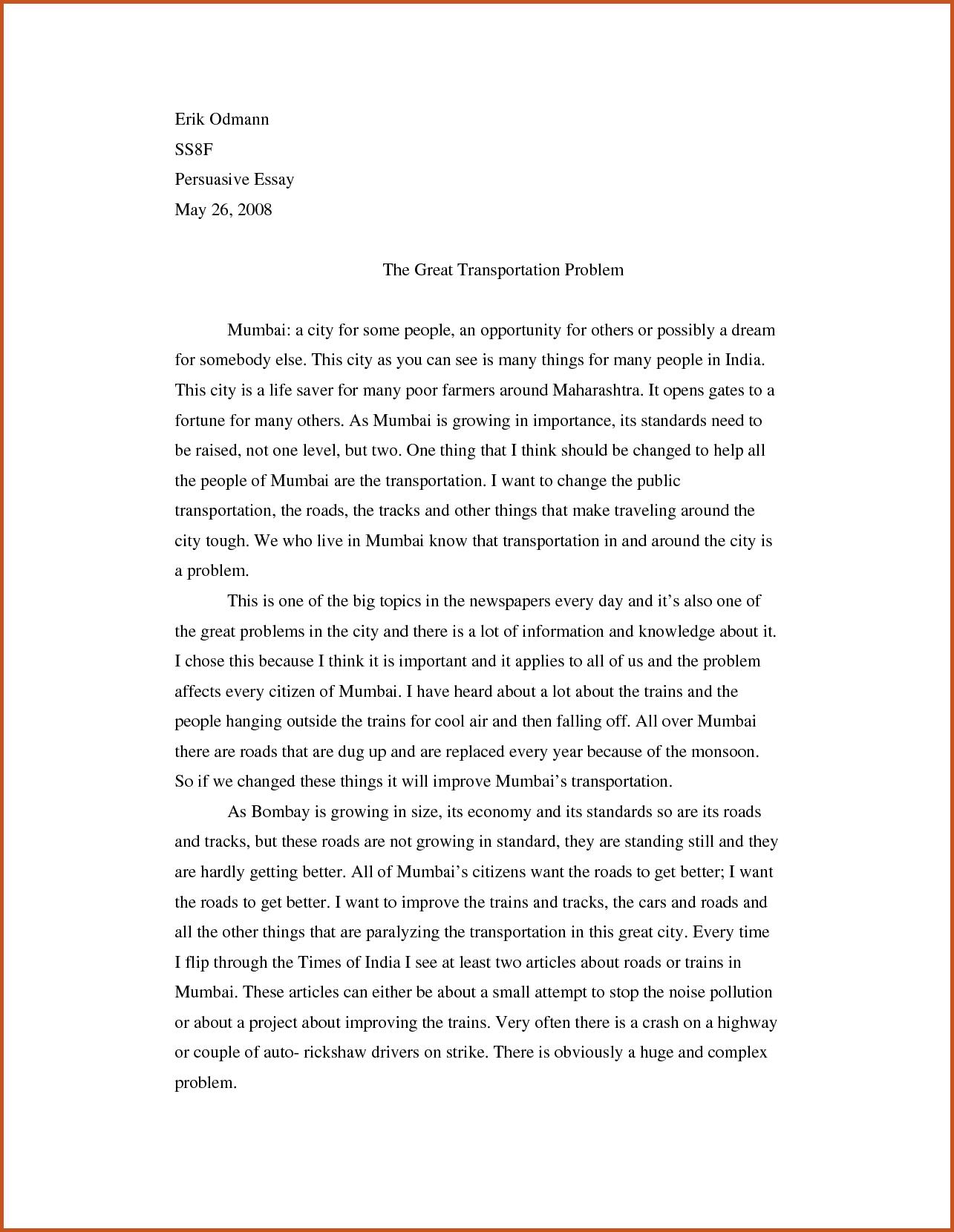 006 Counter Argument Essay Example Sop Examples Persuasive 1 Beautiful Sample Full