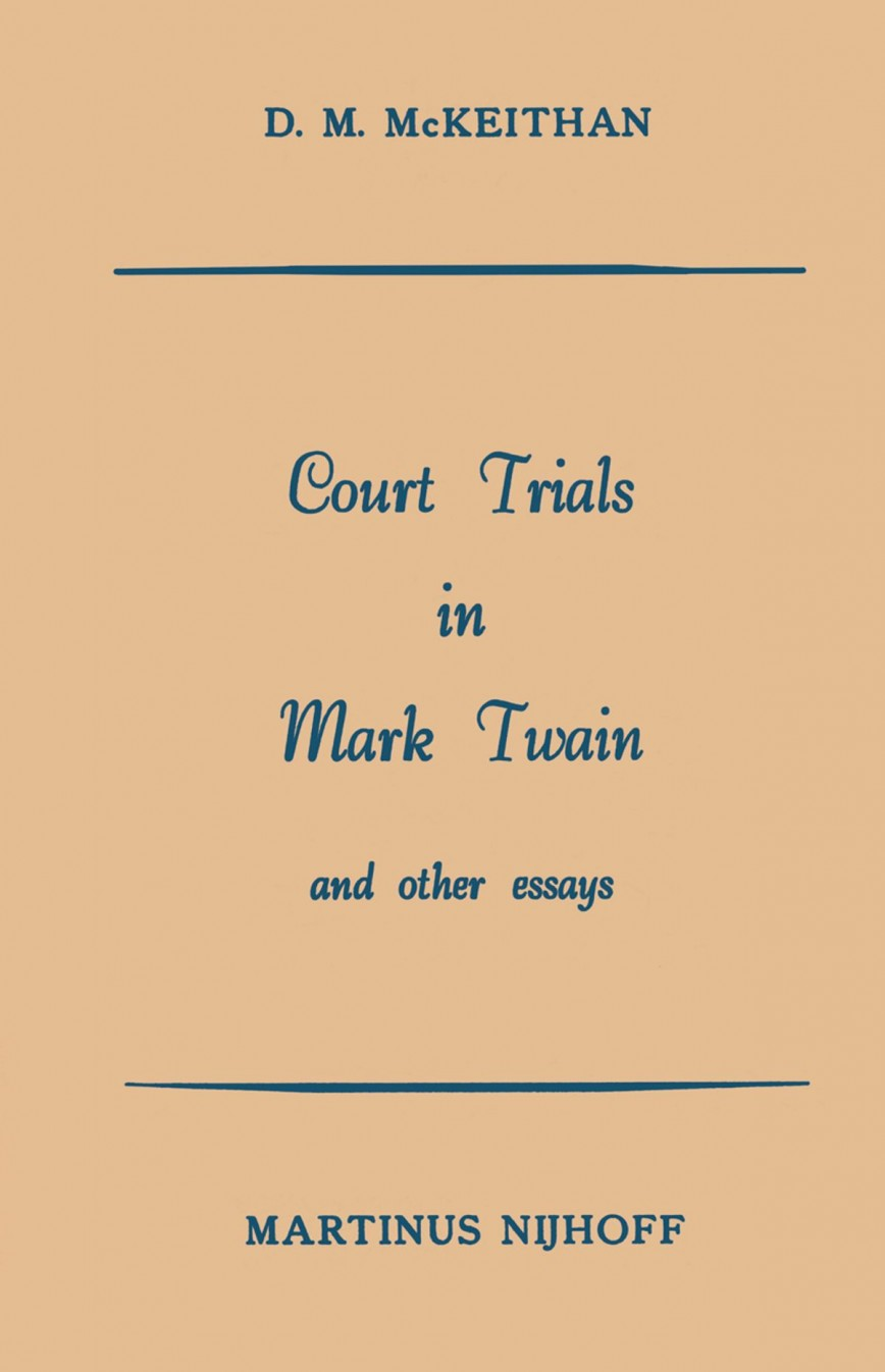006 Court Trials In Mark Twain And Other Essays Essay Surprising Pdf Amazon Online
