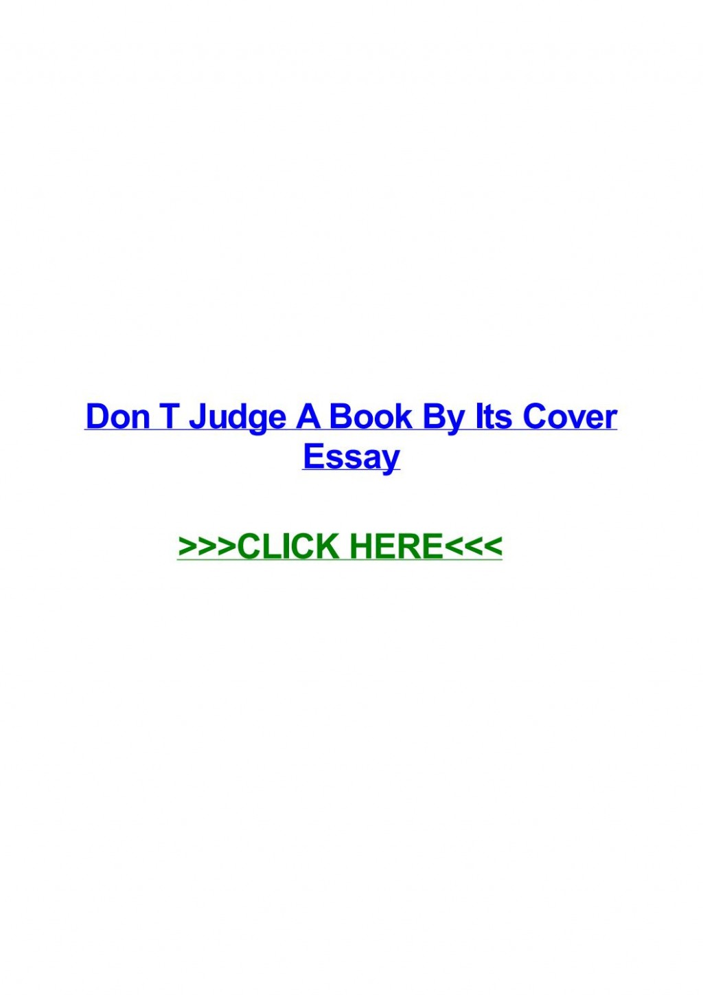 006 Don T Judge Book By Its Cover Essay Page 1 Formidable A Don't English Never Examples Large