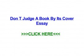 006 Don T Judge Book By Its Cover Essay Page 1 Formidable A Don't English Never Examples