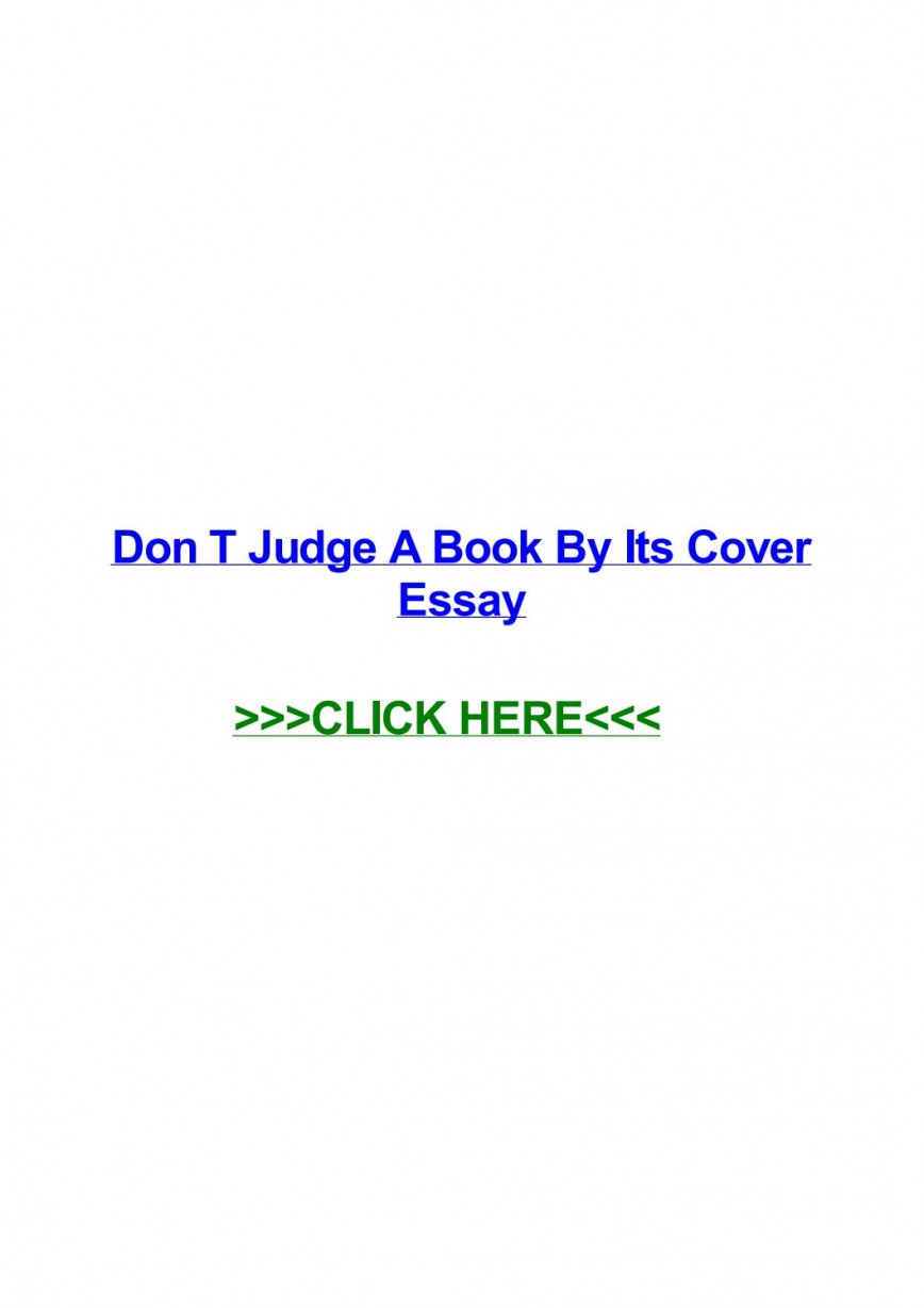 006 Don T Judge Book By Its Cover Essay Page 1 Formidable A Don't English Never Spm
