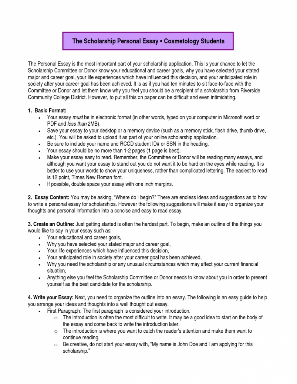009 Educational And Career Goals Essay Examples Example