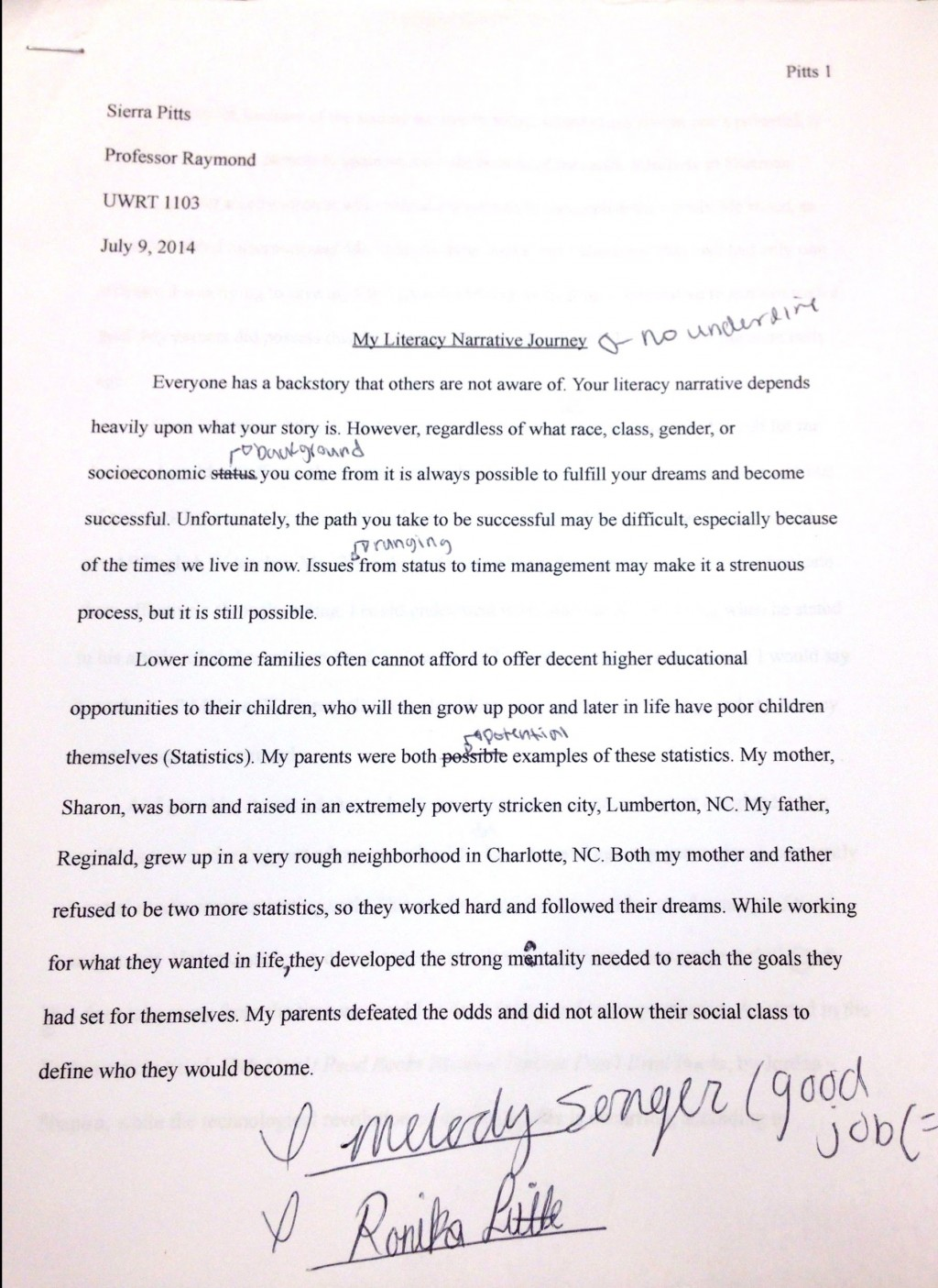 006 Essay Draft New20doc209 1 Best Rough Example Outline Drafting Process Large