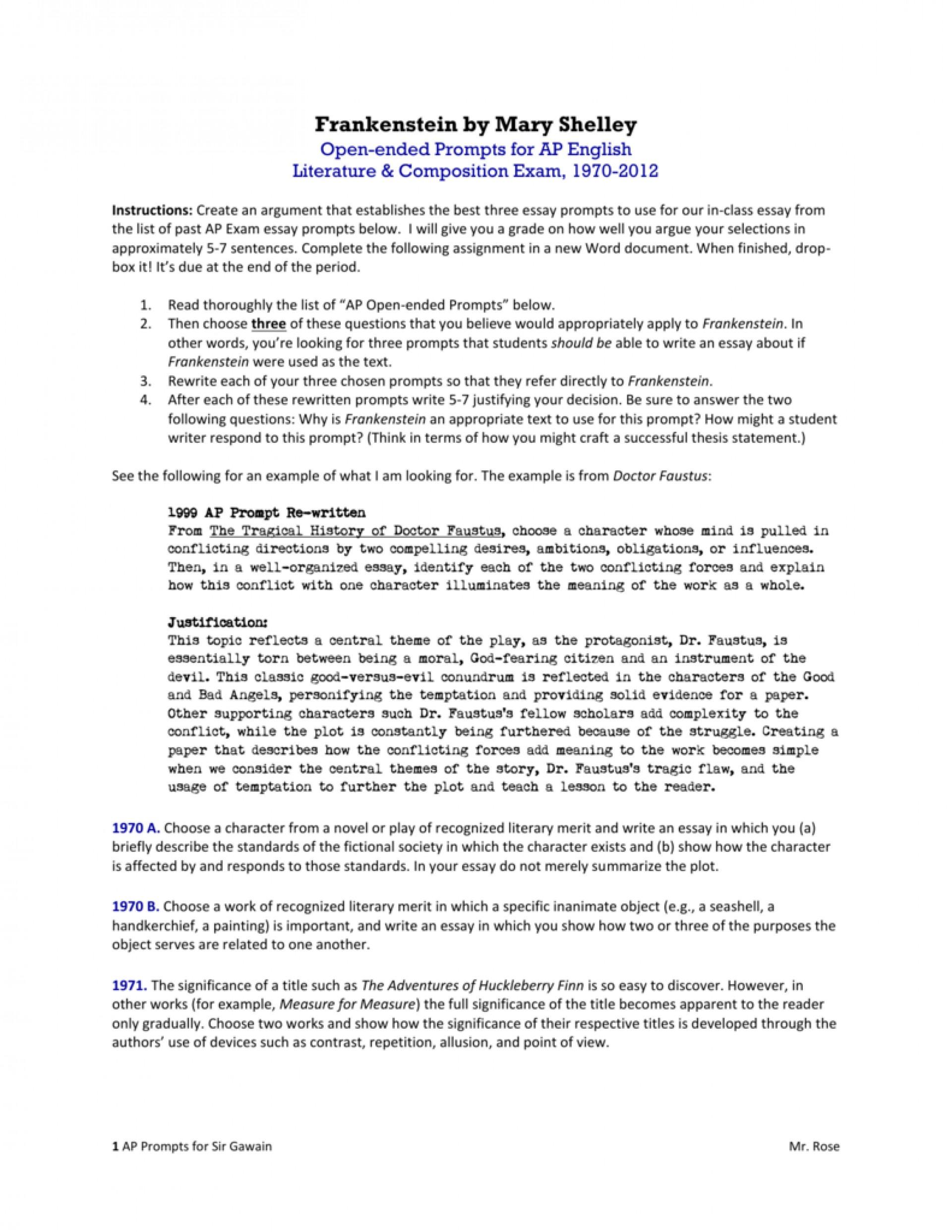 006 Essay Example 008348300 1 Ap Literature Stunning Prompts List 2008 Macbeth 1920