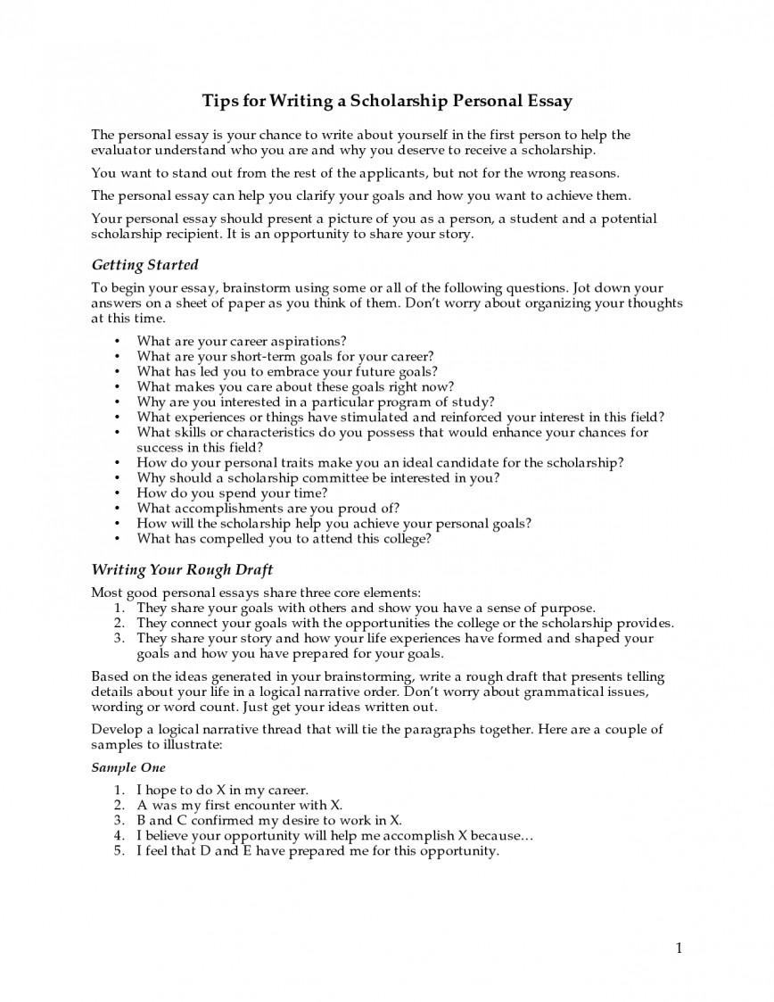 006 Essay Example 5ccj3jqozo How To Write Personal For Marvelous A Scholarships Scholarship Application Statement