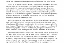 006 Essay Example About Travel Homework Academic Service Value Of Travelling Writing Ielts Dreaded Spm
