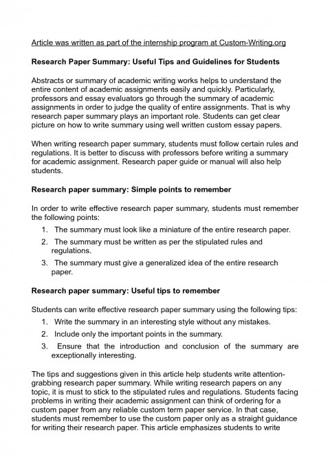 006 Essay Example Adhd Research Papers Brain Scan College About Writing Paper Summary 5 Impressive Conclusion Examples Thesis Statement 480