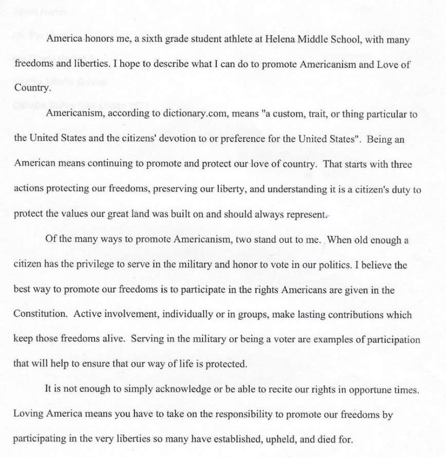 006 Essay Example Americanism Contest Astounding Amvets American Legion Auxiliary 2019 Education Leaders