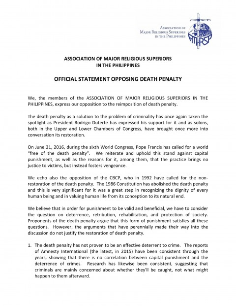 006 Essay Example Amrsp Message Statement Against Death Penalty On Is The Unusual Effective Argumentative 480