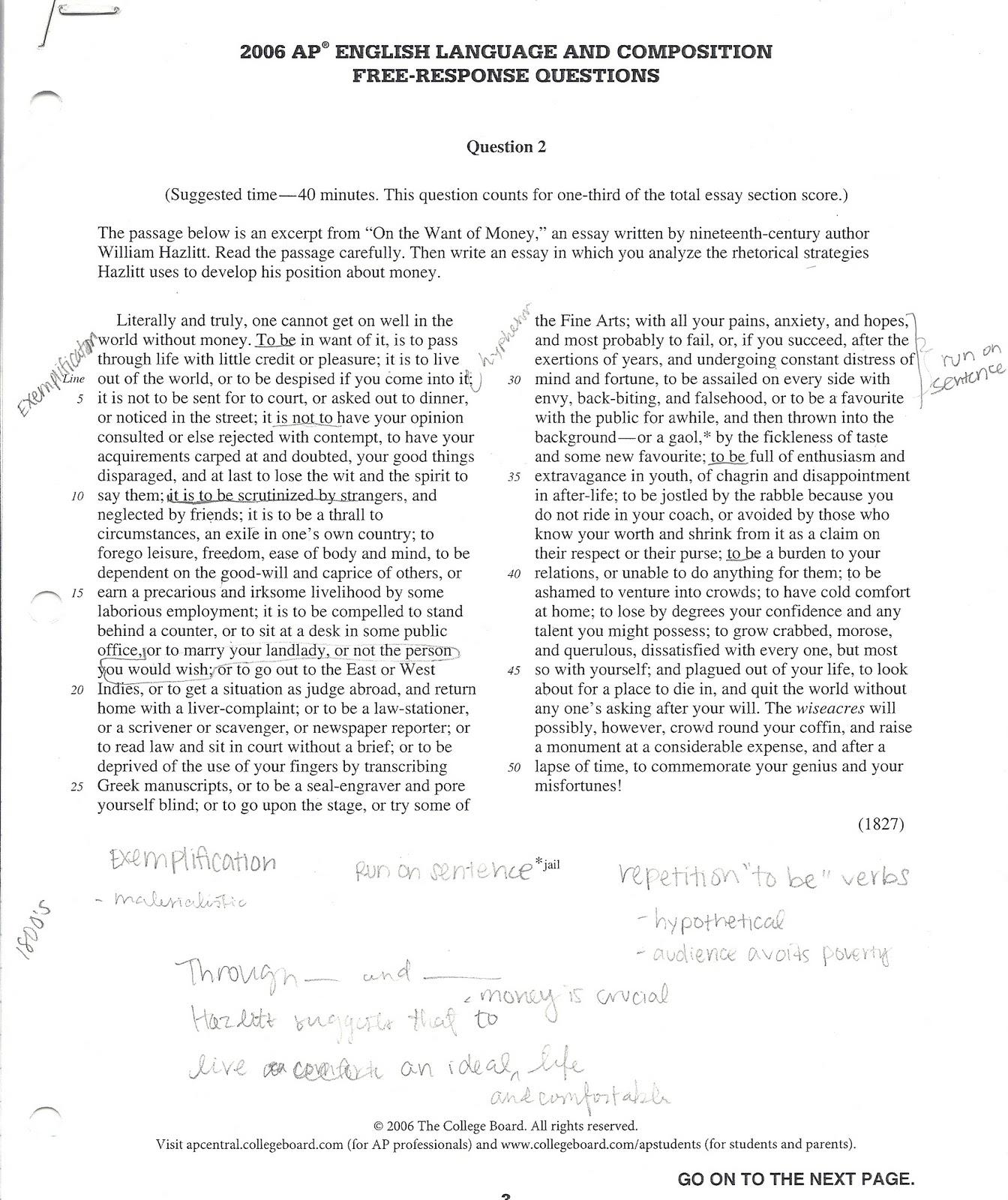 006 Essay Example Ap Prompts