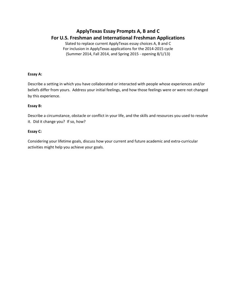 006 Essay Example Apply Texas Essays Fall 008198802 1 Impressive 2015 Full