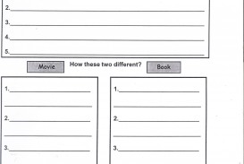 006 Essay Example Book20movie20compare20contrast Compare And Contrast Graphic Wondrous Organizer Middle School