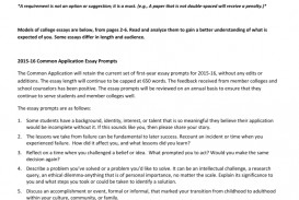 006 Essay Example College Shocking 2015 Prompts Admission