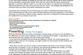 006 Essay Example Comparison And Awful Contrast Examples Point-by-point