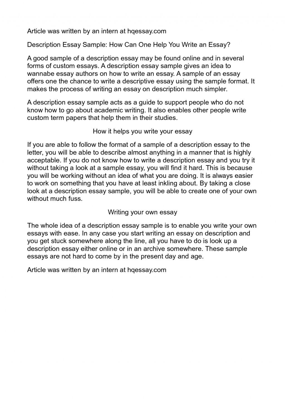006 Essay Example Description Impressive Descriptive Format Rubric Pdf Outline And Structure Large