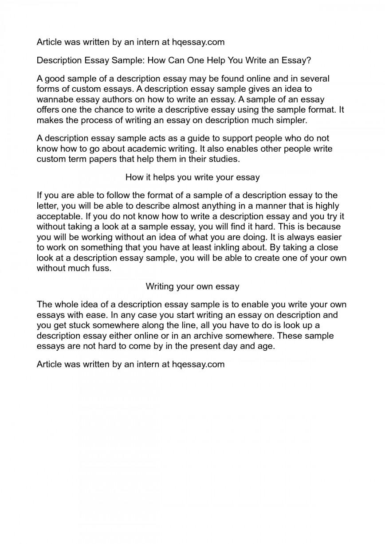 006 Essay Example Description Impressive Descriptive Outline Doc Examples Middle School Topics For 4th Grade