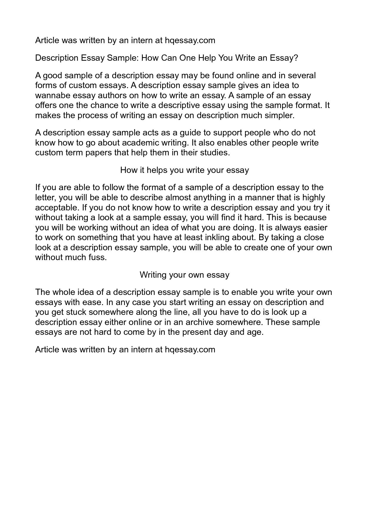 006 Essay Example Description Impressive Descriptive Topics College About A Pet Full